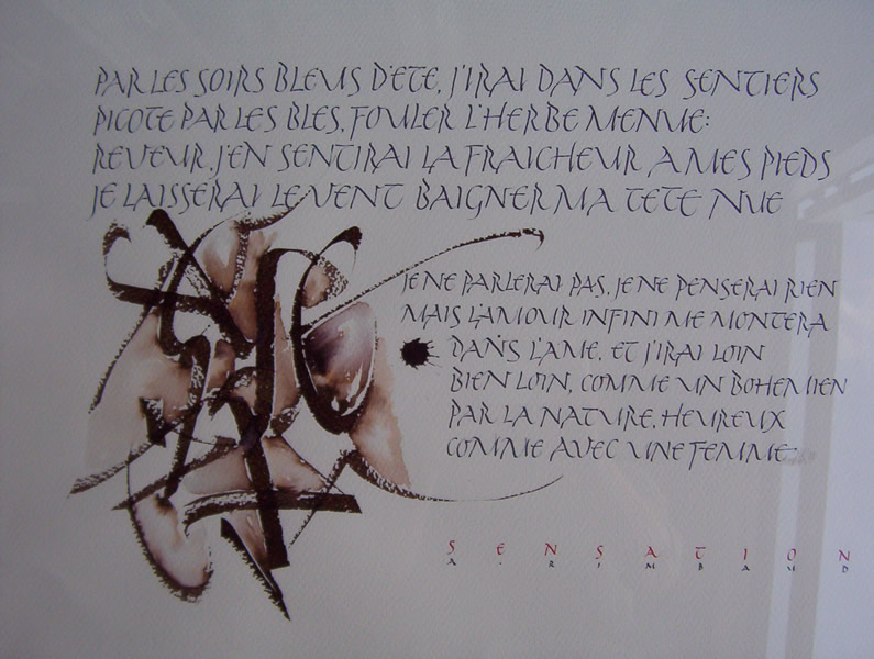 Trekpen kalligrafie